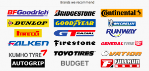 Tickenham Garage Tyre Brands