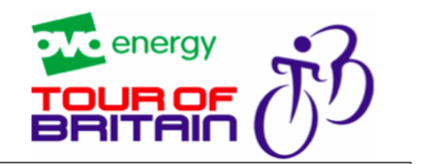 Tour of Britain – Road Closure, Tuesday 4th September